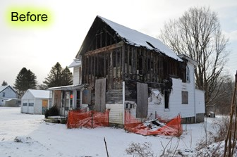 City of Oneonta, NY – Demolition of a condemned house after an arson fire